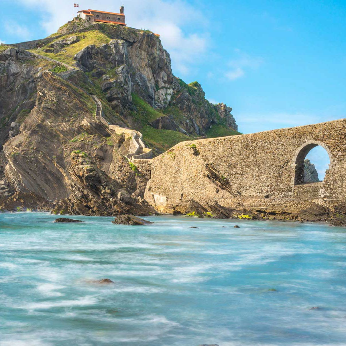 San Juan de Gaztelugatxe, a castle on the rock at sea